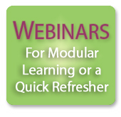 Webinars for Modular Learning or a Quick Refresher