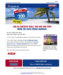 Carnival Cruise Lines Email